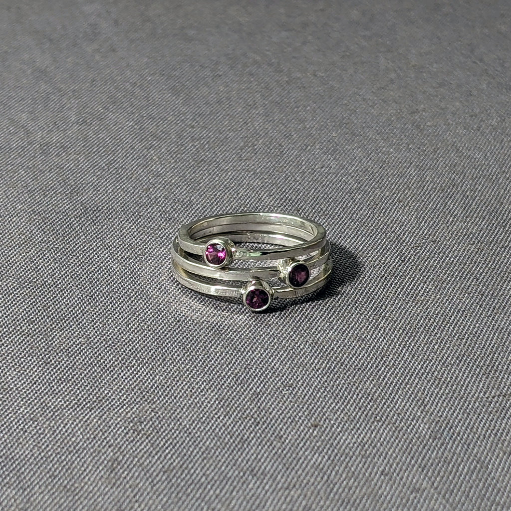 Rhodalite Garnet Stacking Rings