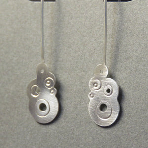 Bubble Earrings Medium Silver