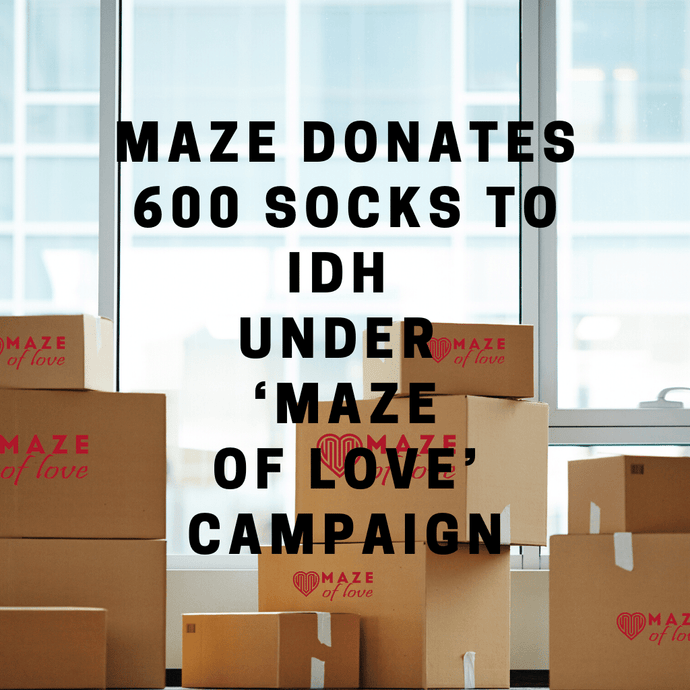 MAZE donates 600 socks to IDH under 'MAZE of LOVE' campaign