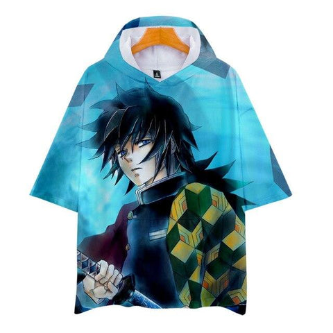 T-shirt Demon Slayer Giyuu Capuche | Zenitsu Shop
