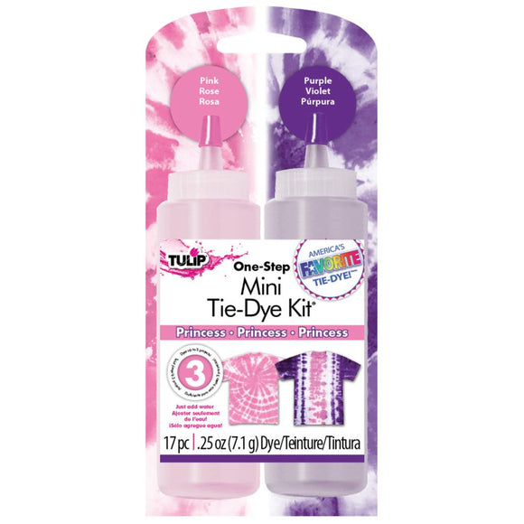 Mini Tie Dye Kit - One Step - Princess Kit