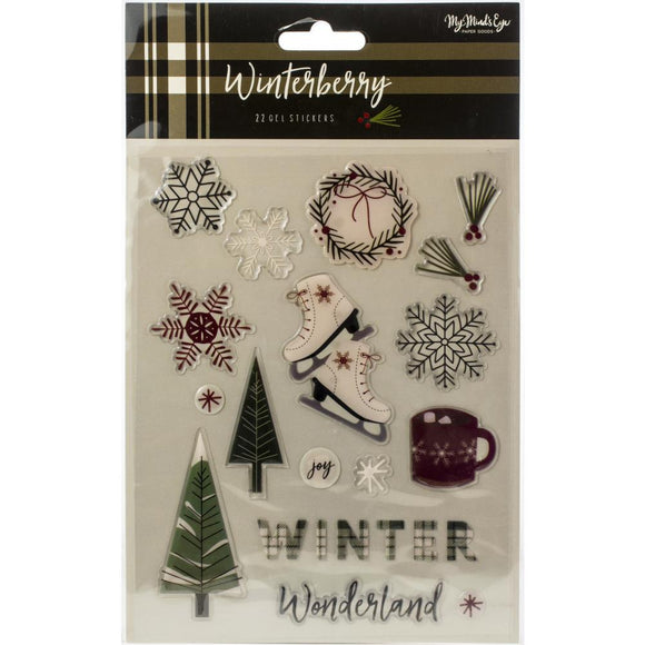 Gel Stickers - Winterberry - My Mind's Eye