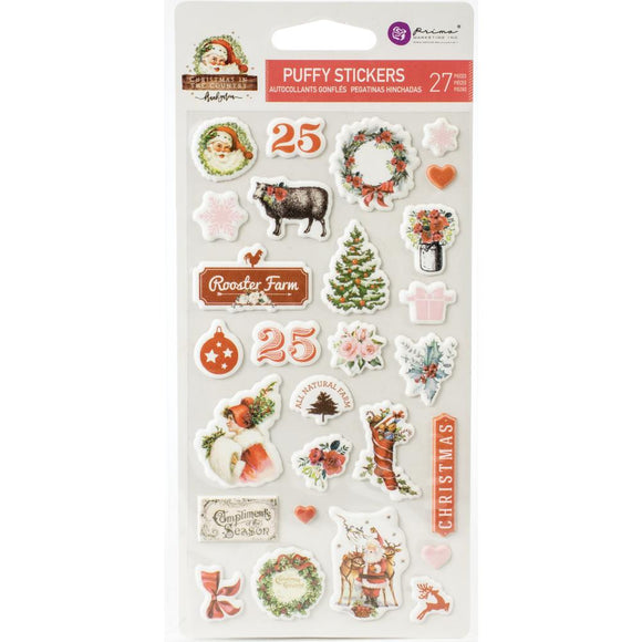 Puffy Stickers - Christmas in the Country - Prima Marketing