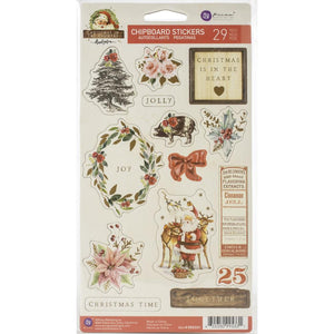 Chipboard Stickers - Christmas in the Country - Prima Marketing