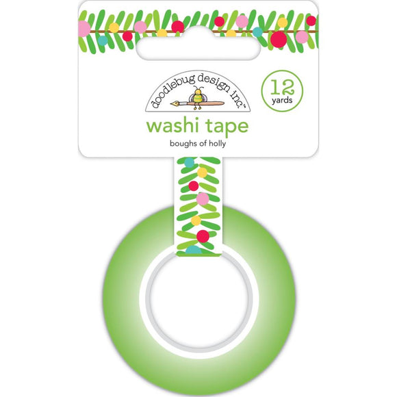 Washi Tape - Boughs of Holly - Doodlebug