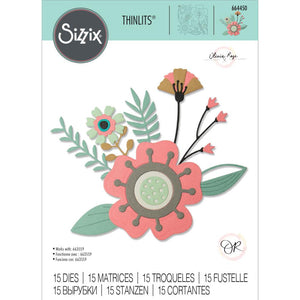 Sizzix Thinlits - Flores Creativas