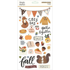 Chipboard Stickers - Cozy Days - Simple Stories