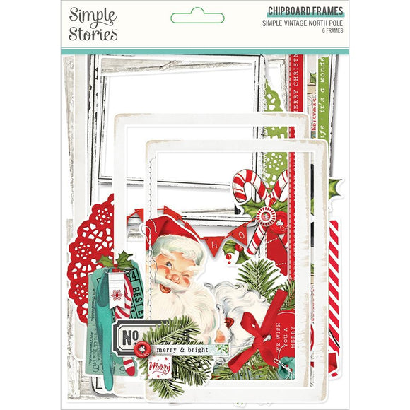 Marcos de Chipboard para Fotos - Simple Vintage North Pole - Simple Stories