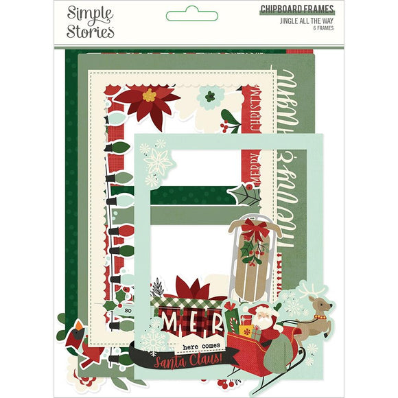 Marcos de Chipboard para Fotos - Jingle All The Way - Simple Stories