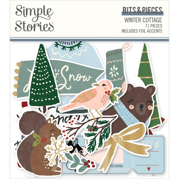 Ephemera Bits & Pieces - Winter Cottage - Simple Stories