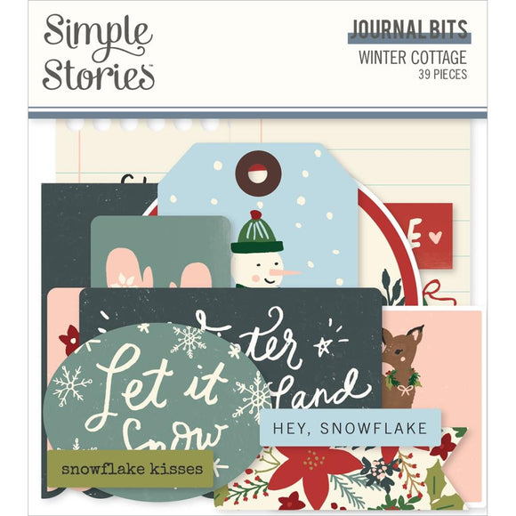 Ephemera Journal Bits - Winter Cottage - Simple Stories