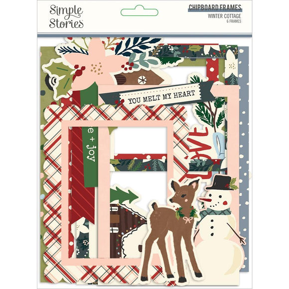 Marcos de Chipboard para Fotos -Winter Cottage  - Simple Stories