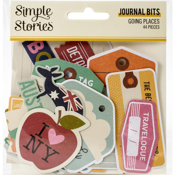 Ephemera Journal Bits & Pieces - Going Places - Simple Stories