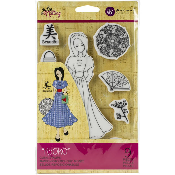 Prima Marketing Julie Nutting Rubber Cling Stamp - Kyoko - Sello