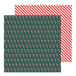 Papeles con Diseño 12 x 12 - Candy Cane - Merry Little Christmas - Pebbles