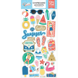 Chipboard Sticker - Accent - Dive into Summer - Echo Park