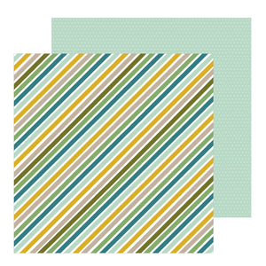 Papel con Diseño 12x12 - Niño - Jungle Strips - Peek A Boo - Pebbles