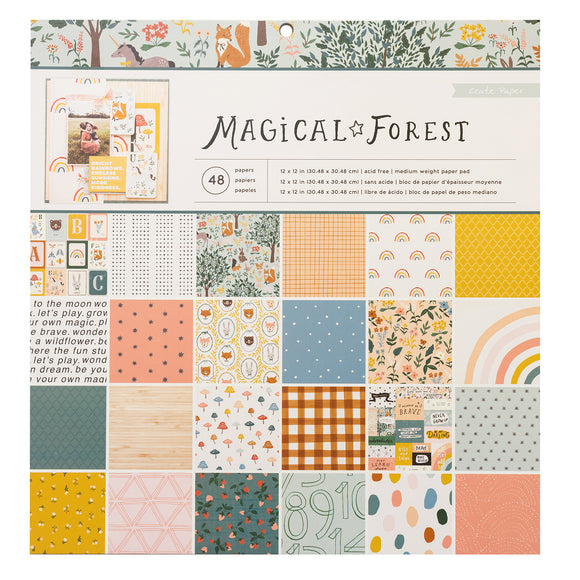 Pad de Papeles 12x12 - Magical Forest - Crate Paper