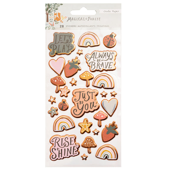Stickers Puffy - Magical Forest - Crate Paper