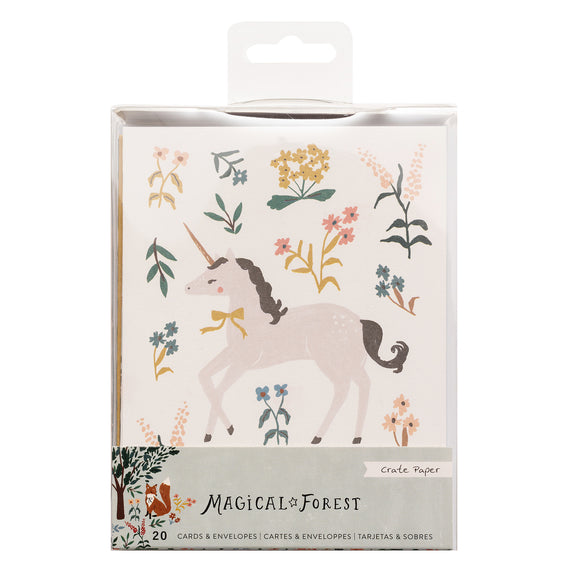 Tarjetas y Sobres - Magical Forest - Crate Paper