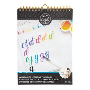 Watercolor Lettering Workbook - Letra Script - Kelly Creates
