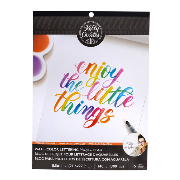 Watercolor Lettering Project Pad - Kelly Creates