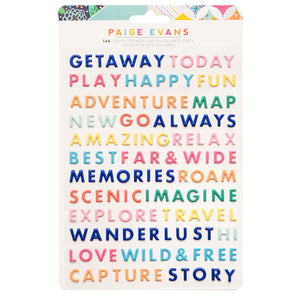 Puffy Words Stickers - Go The Scenic Route - Paige Evans