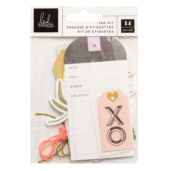 Kit de Tags o Etiquetas - Old School - Heidi Swapp