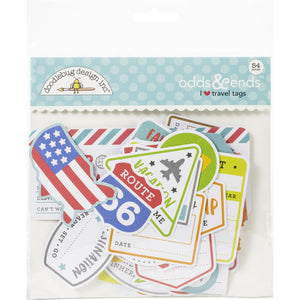 Die Cuts - Odds & Ends - I Heart Travel - Doodlebug