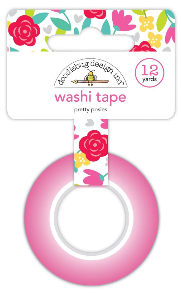Washi Tape - Pretty Posies - Love Notes - Doodlebug