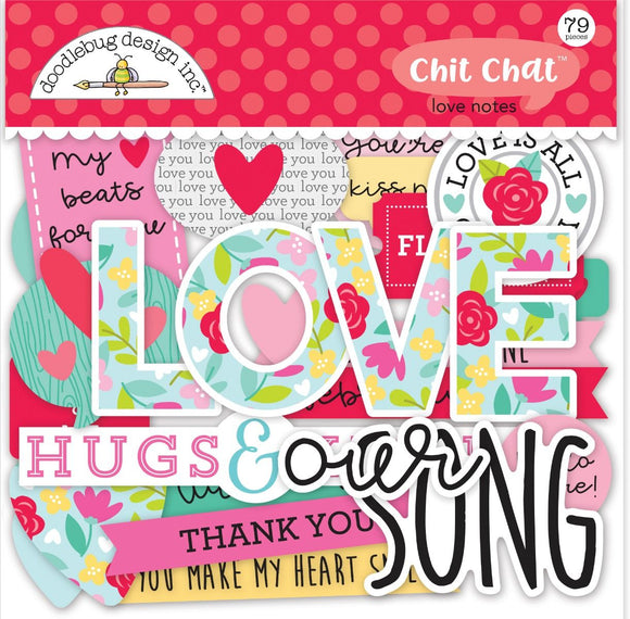 Die Cuts - Chit Chat - Love Notes - Doodlebug