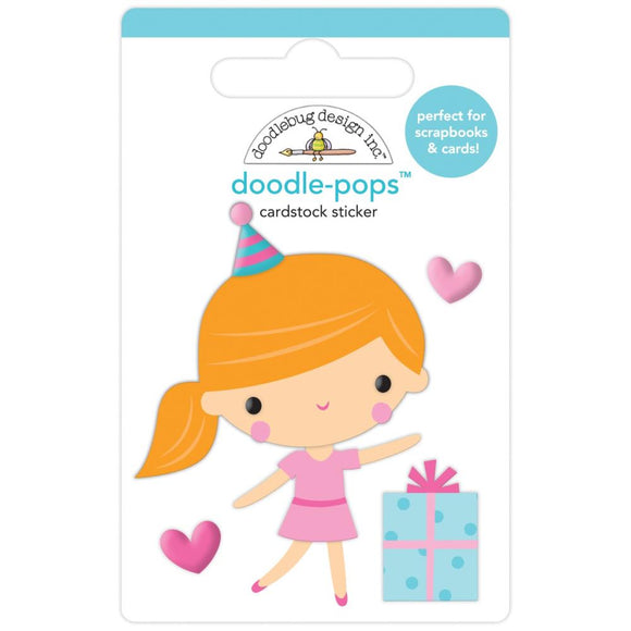 Doodle Pops - Party Girl - Hey Cupcake - Doodlebug
