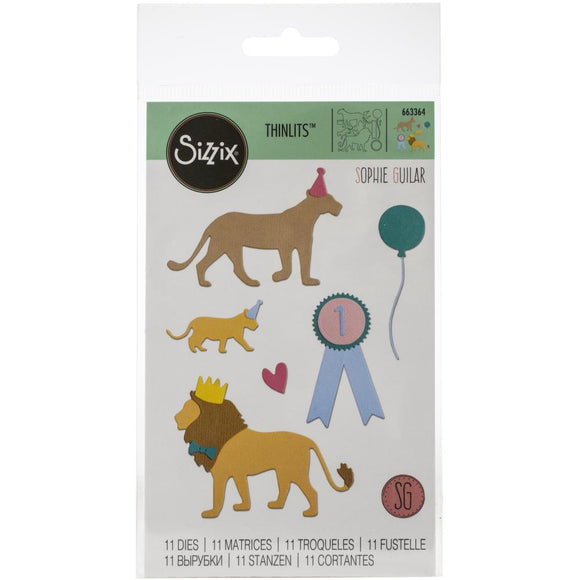 Sizzix Thinlits - Party Cats - Felinos en Fiesta
