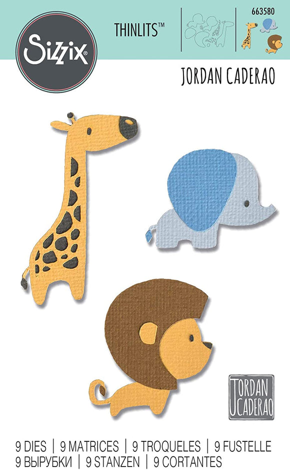 Sizzix Thinlits - Baby Jungle Animals - Cachorritos de la Selva