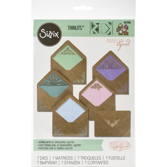 Sizzix Thinlits - Envelope Liners A7 Intricate - Forro para Sobres