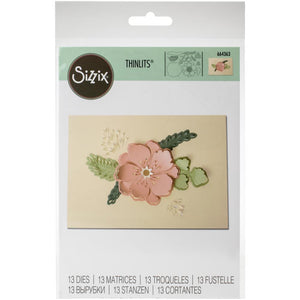 Sizzix Thinlits - Peony Pop-Up - Peonía