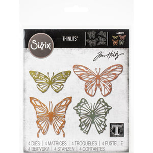 Sizzix Thinlits Scribbly Butterflies - Mariposas