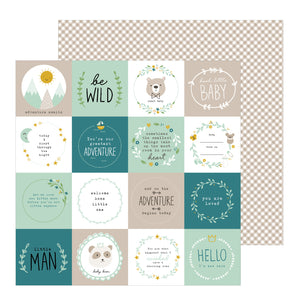 Papel con Diseño 12x12 - Niño - Be Wind - Peek A Boo - Pebbles