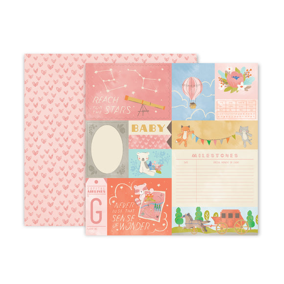 Papel 12 x 12 - #01 - Little Adventurer - Pink Paislee