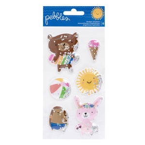 Stickers Shakers - Sun & Fun - Pebbles