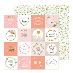 Papel con Diseño 12x12 - Little One - Peek A Boo - Pebbles