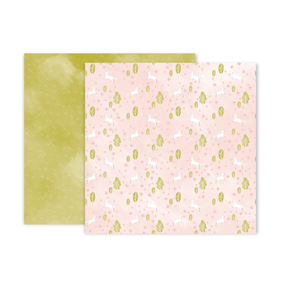 Papel 12 x 12 - #05 - Little Adventurer - Pink Paislee