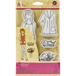 Prima Marketing Julie Nutting Rubber Cling Stamp - Becky - Sello