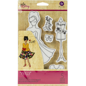 Prima Marketing Julie Nutting Rubber Cling Stamp - Kelly - Sello