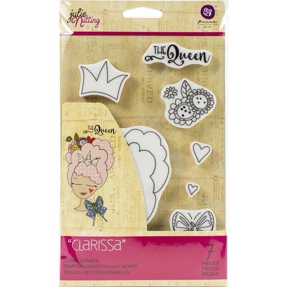Prima Marketing Julie Nutting Rubber Cling Stamp - Clarissa - Sello