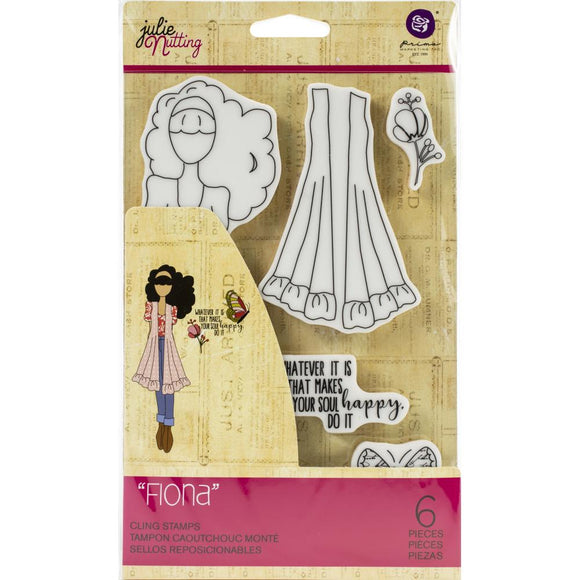 Prima Marketing Julie Nutting Rubber Cling Stamp - Fiona - Sello