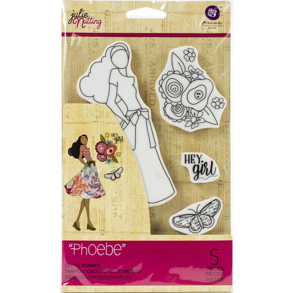 Prima Marketing Julie Nutting Rubber Cling Stamp - Phoebe - Sello