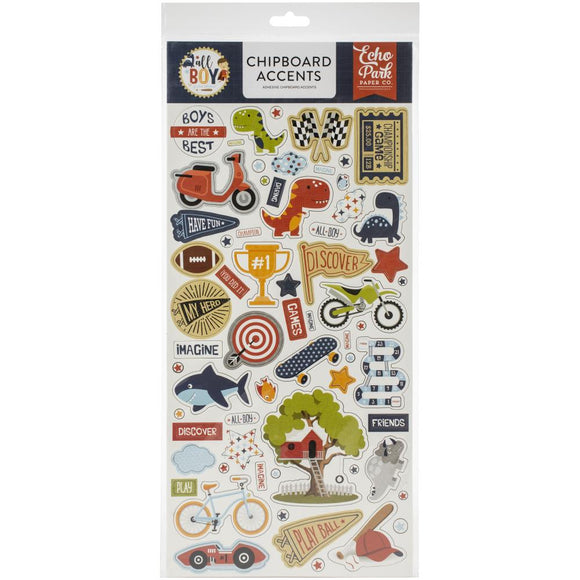 Chipboard Stickers - Accents - All Boy - Echo Park