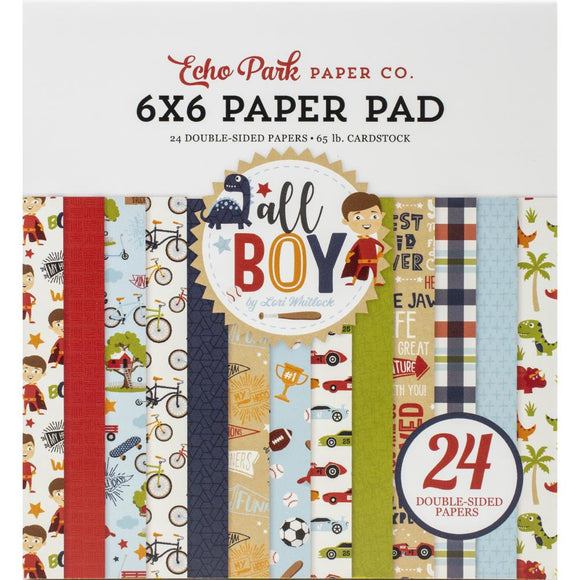 Paper Pad 6x6 - All Boy - Echo Park
