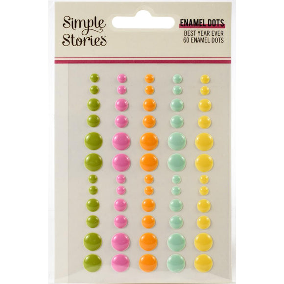 Enamel Dots - Best Year Ever - Simple Stories